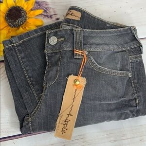 HIPPIE Charcoal Grey Cropped Jeans Size 27